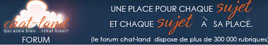 Lancement du nouveau forum Chat Land