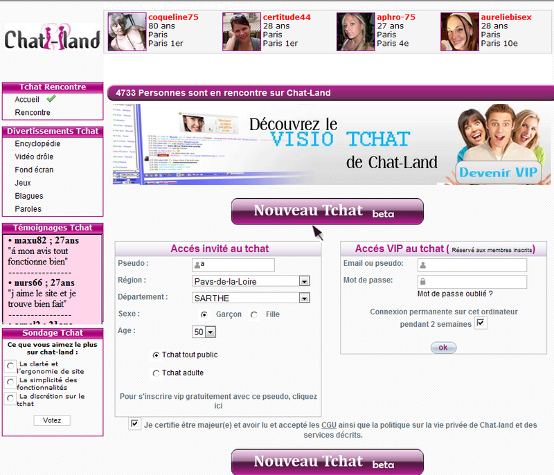 Site de rencontre chat land